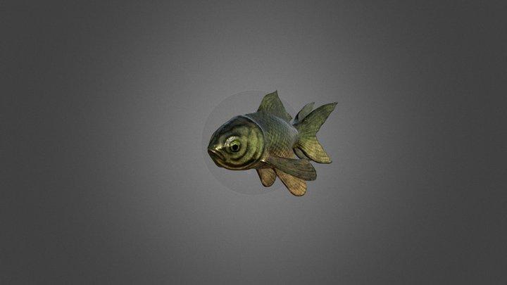 Goldfish_Otter_Textured 3D Model