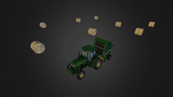 Heuernte animiert FR 3D Model