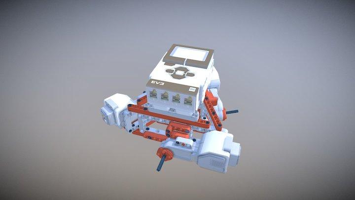 Holonomic LEGO Mindstorms Robot Model 3D Model