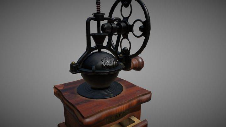 Vintage Coffee Grinder 3D Model