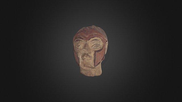 Testa di guerriero in terracotta 3D Model
