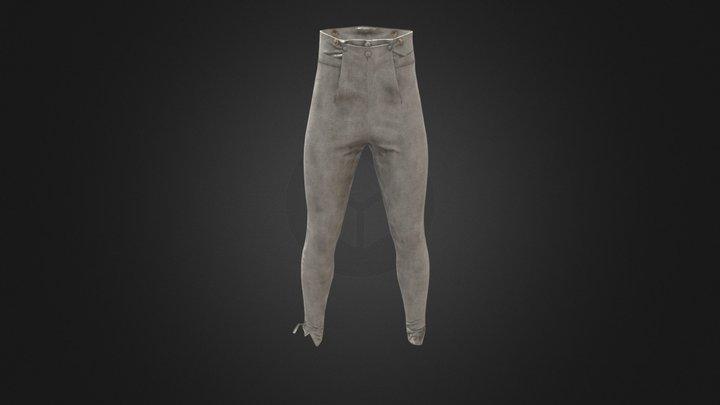 Early 19th Century Lambskin Pantaloons 3D Model