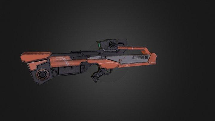 Rifle Gun 3D Model