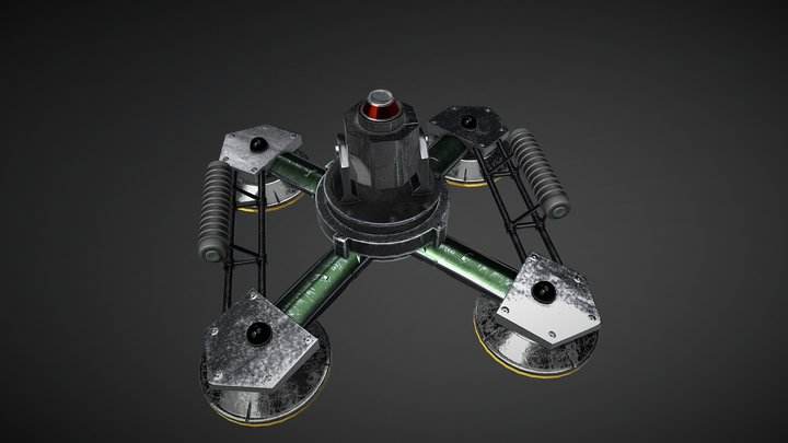 Rainbow Six Siege - Jager Active Defense System 3D Model