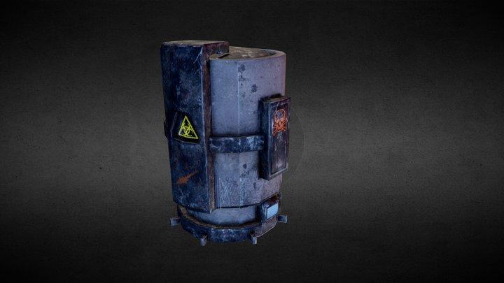 PBR game asset barrel 3D Model