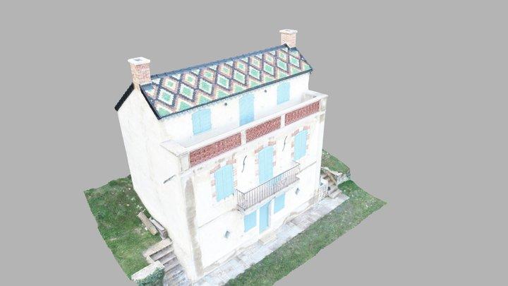 Maison aux tuiles vernissées 3D Model