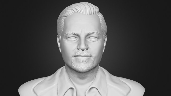 Leonadro DiCaprio Bust 3D Model