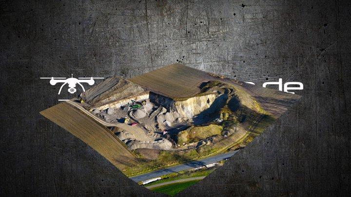 """""""Gravel Pit"""" Surface Model + Texture (Agisoft) 3D Model"""