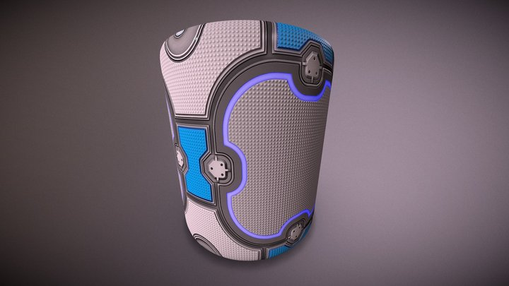 Stylised sci-fi panel 3D Model