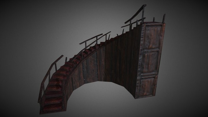 Rotten Staircase 3D Model