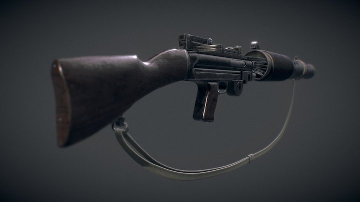 T-21 Light Repeating Blaster (High-Poly) 3D Model