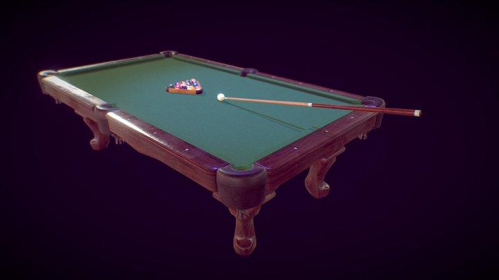 Billiard Game Kit 3D Model