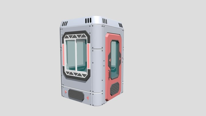 Security Booth 3D Model