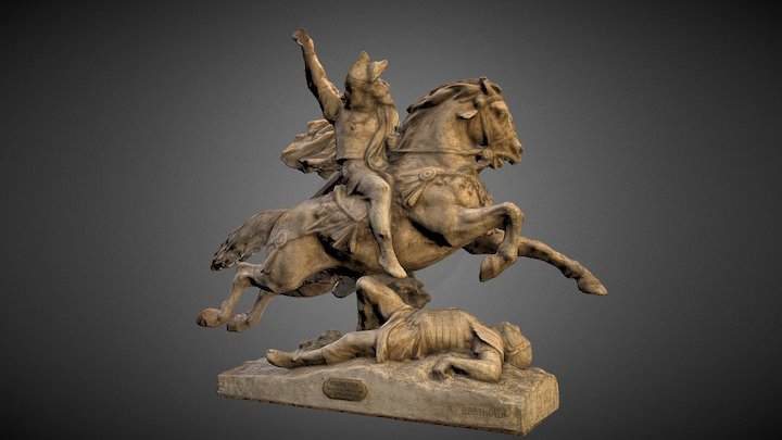 Equestrian statue of Vercingetorix. Bartholdi 3D Model
