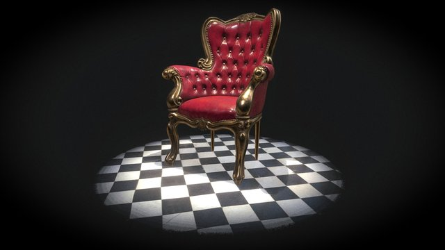 Vintage Classical Leather Arm Chair 3D Model