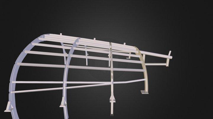 Porzione Galleria Acciaio 3D Model