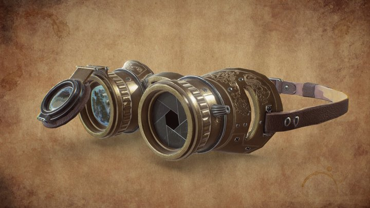 Steampunk Glasses 3D Model