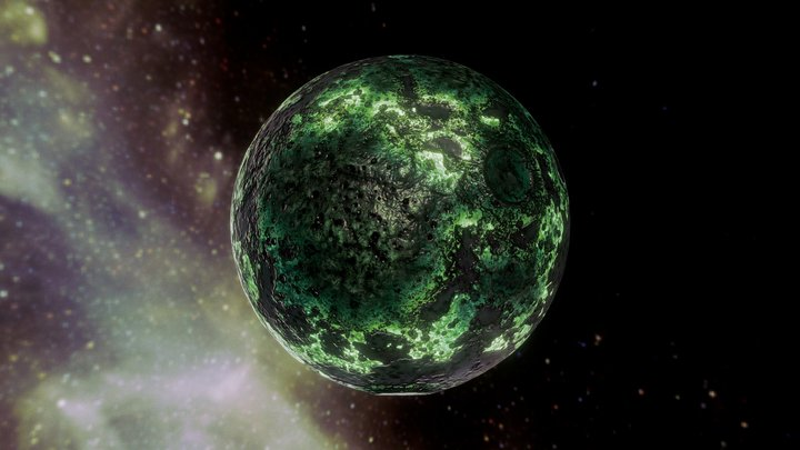 Green Star 3D Model
