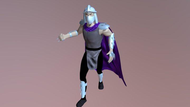 Shredder 80's 3D Model
