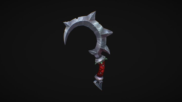 Hand_Painted_Sickle 3D Model