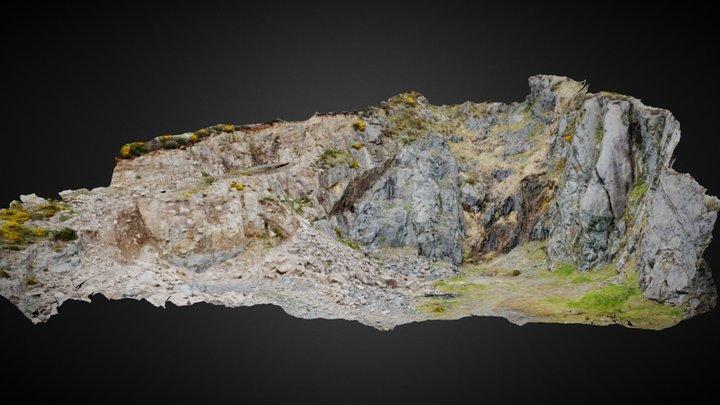 Gullion Ring-Dyke, Camlough Quarry. 3D Model