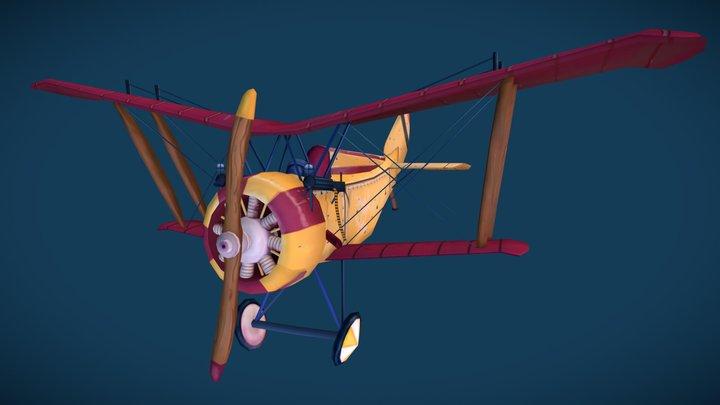 Stylized WW1 Plane - Hanriot HD.1 3D Model
