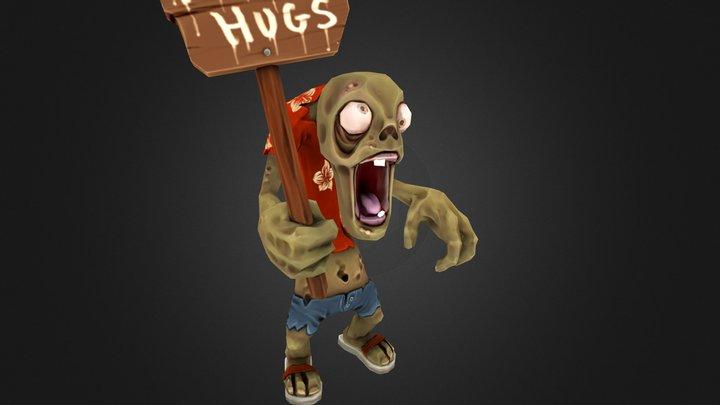 Helium Games Zombie Hugh 3D Model