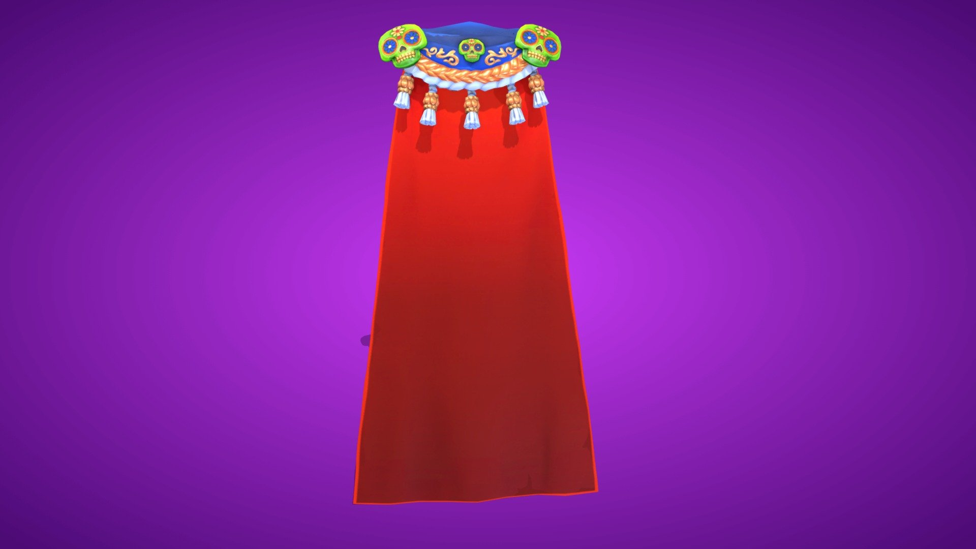 Fortnite Cape spirit cape back bling - 3d modelfortnite skins