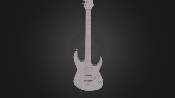 Custom Guitar Ibanez Temp RG 3D Model