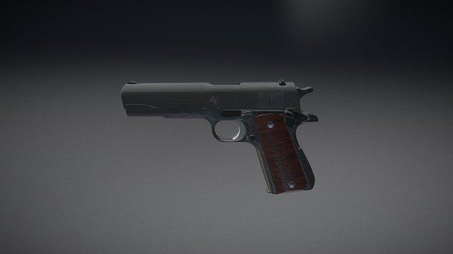 Colt M1911 Fully Detailed 3D Model