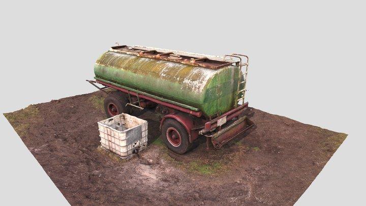 Farming trailer 3D scanned 3D Model