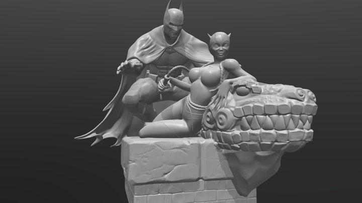 batman and catwoman 3D Model