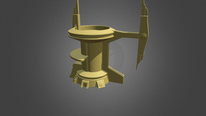 Tau Tall Open Top Tower 3D Model