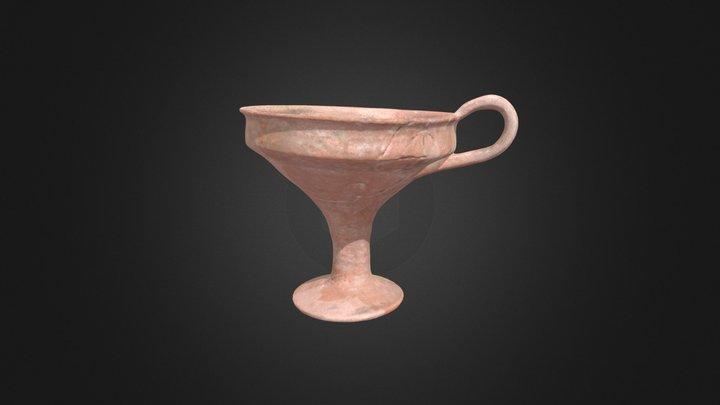 Mycenaean Carinated Kylix (P137) 3D Model