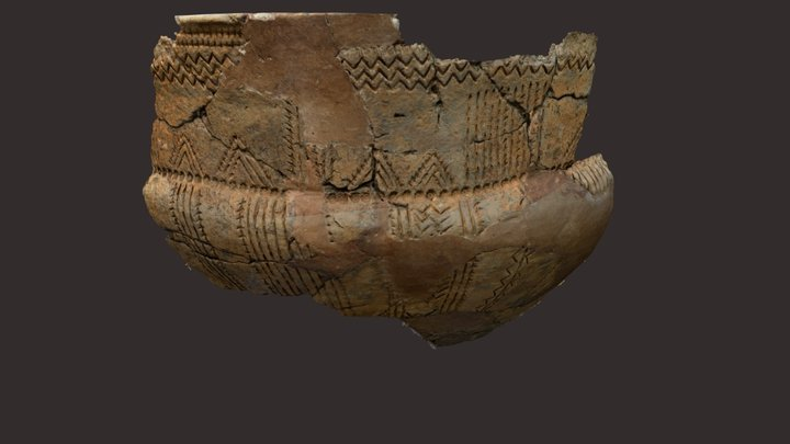 Neolithic bowl from 3.100 BC 3D Model