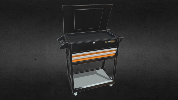 Gearwrench 2 Drawer Cart 3D Model