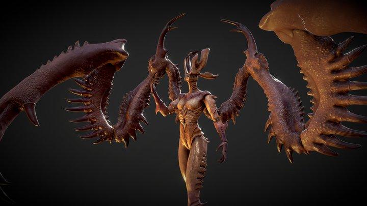 Horror Angel 3D Model