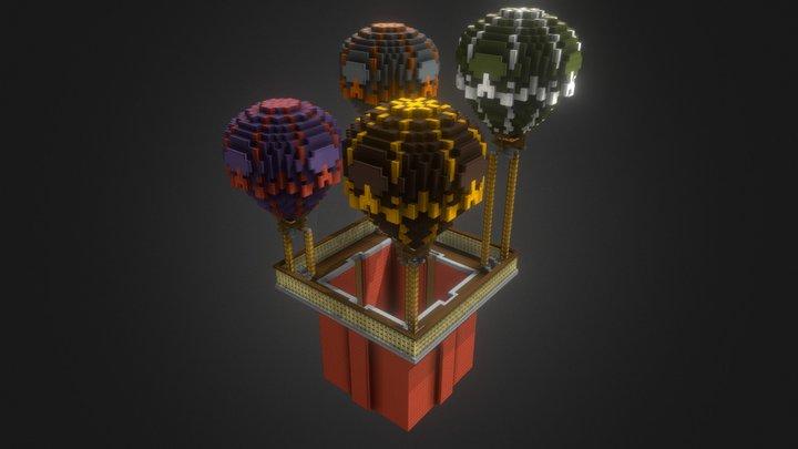 Hotair mine 3D Model