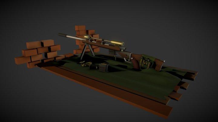 Rifle_Daily_XYZ 3D Model