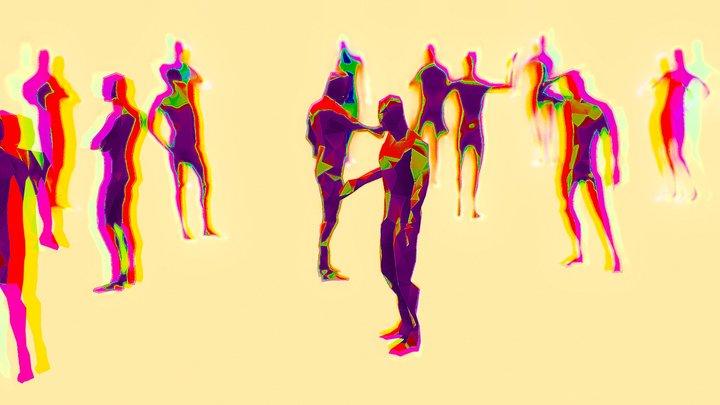 People Being People 3D Model