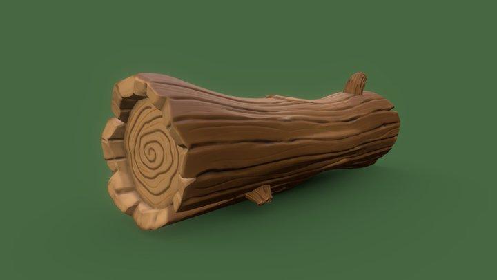 Stylized Log - Digital Sculpting 3D Model