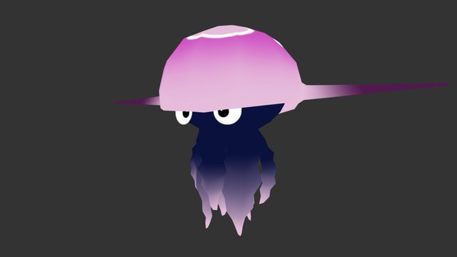 Cartoon jellyfish 02 3D Model