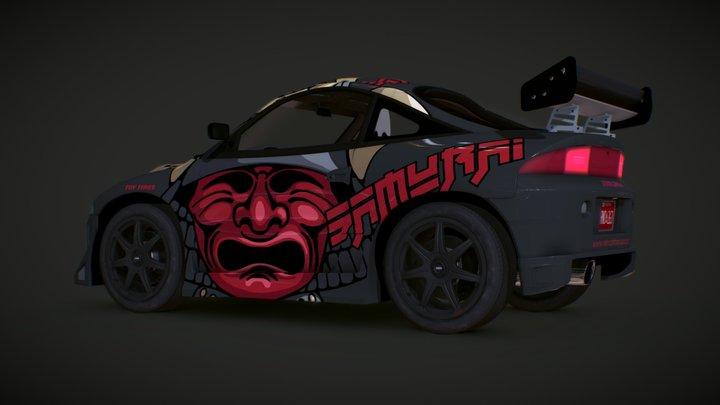 SAMURAI - Cartoon Street Race Car 3D Model