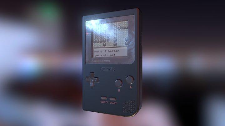 Game Boy Pocket 3D Model