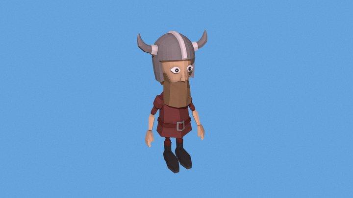 Viking Animated 3D Model