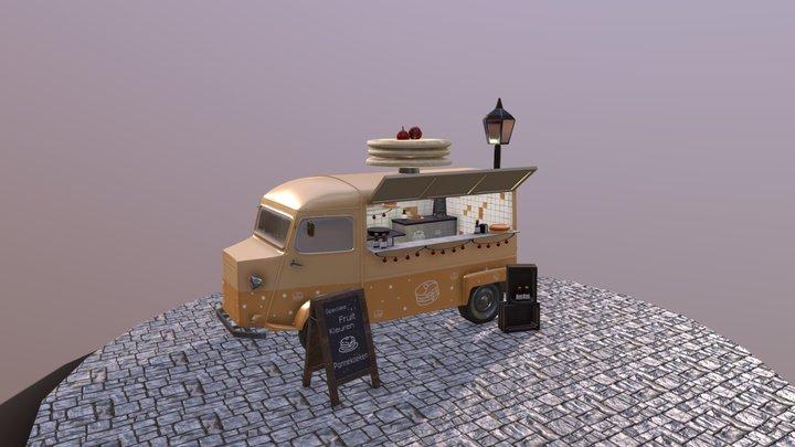Pancake Truck 3D Model
