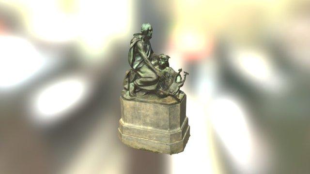 Homer Statue at UVa 3D Model
