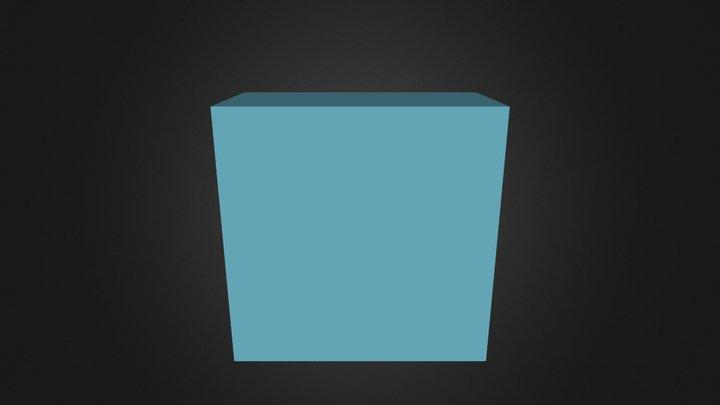 Puzzle Cube Blue Part 3D Model