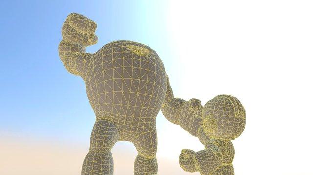Mega Man VS. The Yellow Devil 3D Model