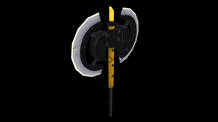 Fantasy Axe-01 3D Model